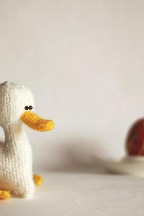 White duck for keeping warm breakfast egg. Eco friendly. Easter decoration. Cozy home