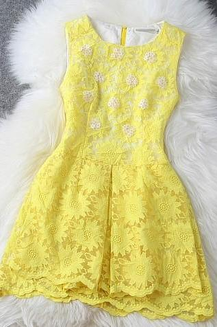 Embroidery Stitching Organza Dress
