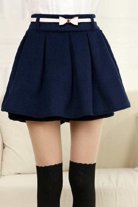 Slim Slim Waisted Skirt Pants Elastic Wool Skirts