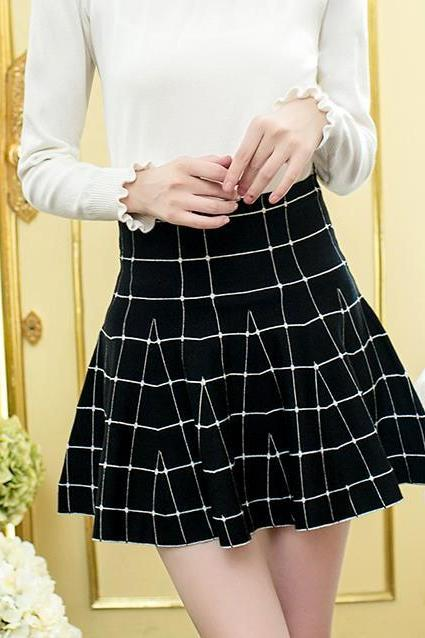 New Autumn And Winter Plaid Pattern OL Women's Skirt