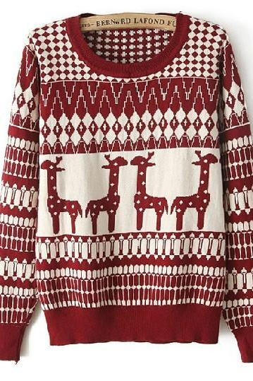 Fashion Giraffe Sweater