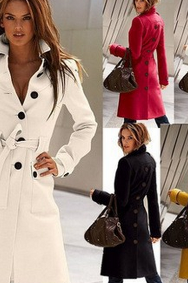 Autumn Winter 2014 casual jacket women wool coat overcoat