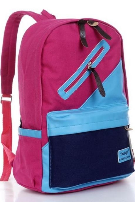 Student school canvas unisex backpack