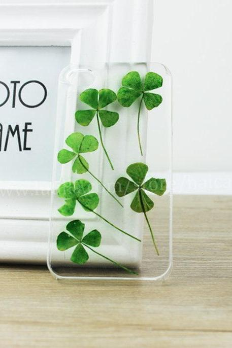 Pressed Four Petal Clovers Phone Case