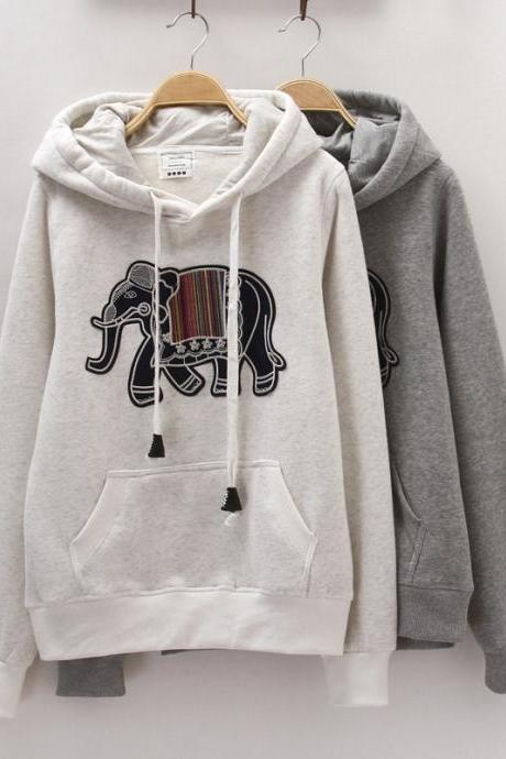 Embroidery thicker cotton hooded sweater BC1219E