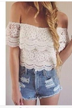 Lace Openwork Lace Shirt
