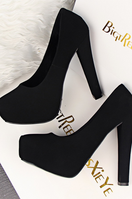 Fashion simple sweet high-heeled shoes