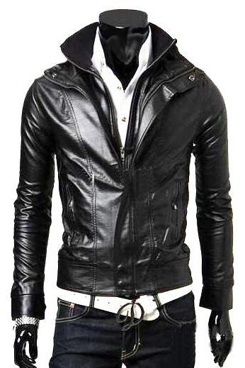 Handmade Custom New Men Slim Fit Double Closure Front Leather Jacket, men leather jacket, Leather jacket for men, Biker Leather Jacket, Motorcycle Jacket