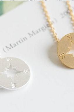 tiny compass necklace,compass jewelry, nautical necklace