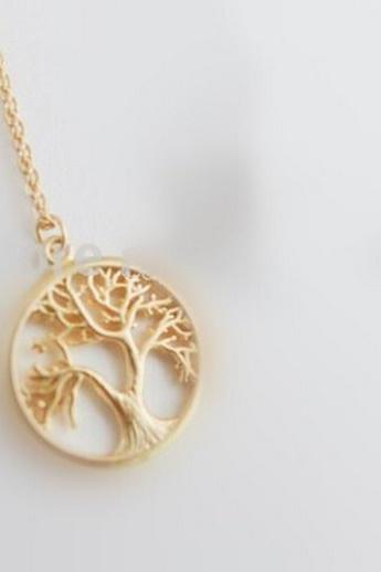 Charm Bridal Jewelry Plant Pendant Tree Of Life Necklace