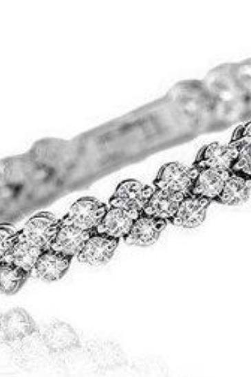 Crystal Bracelets Full Star Super Shiny Crystal 925 Sterling Silver Bracelets Rolo Chain