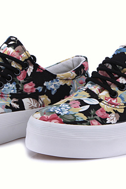 Floral Canvas Casual Shoes
