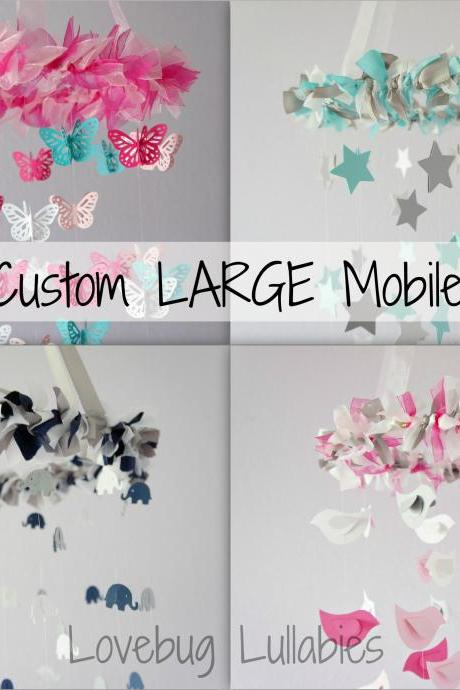 Custom Nursery Mobile- Design Your Own Mobile- LARGE SIZE