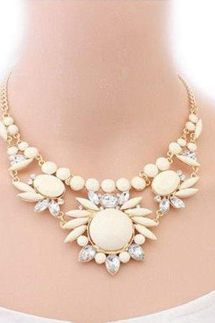 Flower jewelry club night out party girl necklace