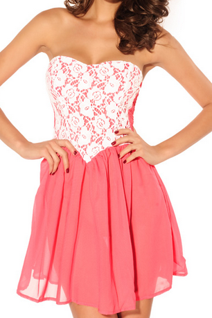 Lace Bra wrapped chest cute dress