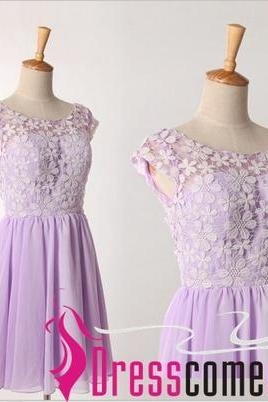 Short/Mini Homecoming Dress, Lavender Short Prom Dress, Cute Cocktail Dress, Bridesmaid Dress, Party Dress,A line Prom Dress,