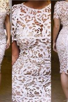 Openwork Lace Sexy Dress