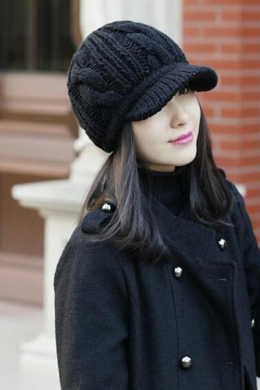 Fashion Autumn And Winter Women's Knitted Hat