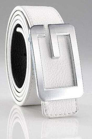 Dress fashion white G-STYLE unisex belt