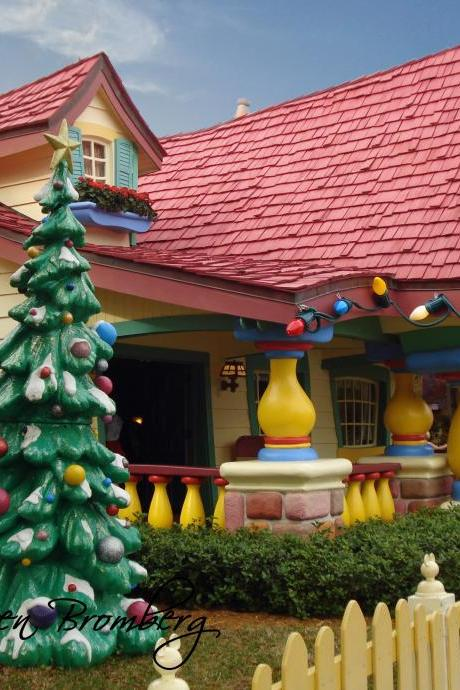 Mickey's House at Christmas