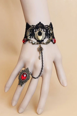 Retro Bracelet Even One Chain Ring Female Handmade Jewelry
