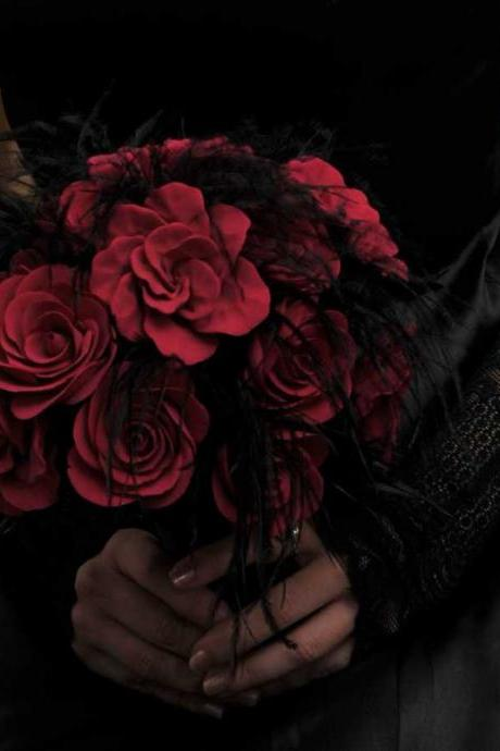 Alternative, Gothic or Non-Traditional bouquets and accessories - Deposit and Ordering information