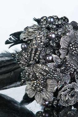 Brooch, Pearl, Feather, or Crystal Wedding Bouquets and Accessories - Deposit and Ordering information