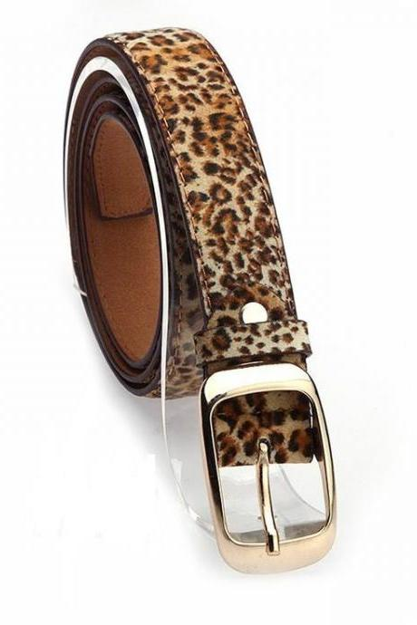 Classic style leopard colored woman belt