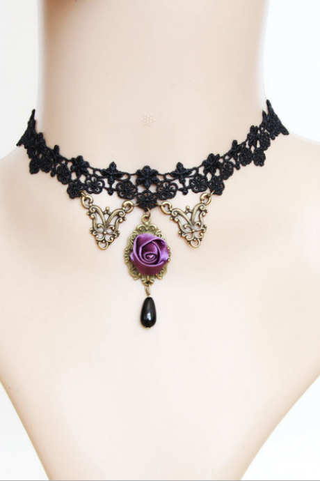 Lace clavicular Necklace Choker