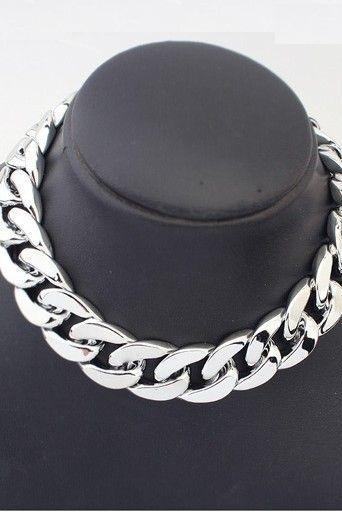 Chain fashion silver colored woman necklace