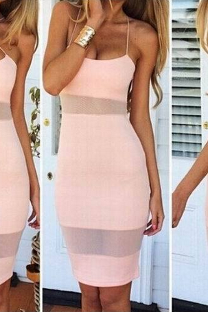 Splicing Bandage Dress Sexy Nightclub Rope Dress Vest Skirt Temptation