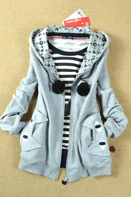 Cute hoodie sweater coat UU1228A