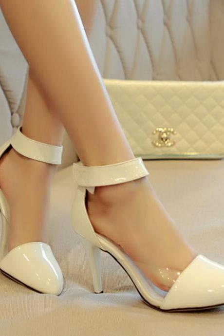 Chic White Pointed Toe High heels Fashion Shoes
