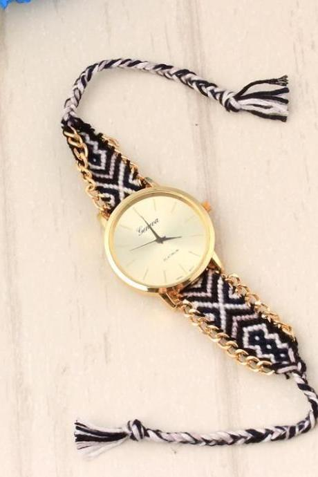 Hippie cloth band unisex festival watch
