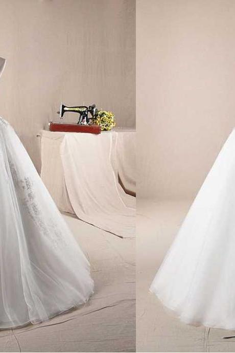 STRAPLESS WITH COLORED BELT A-LINE ORGANZA WEDDING Wedding Dress Bridal Dress Gown Wedding Gown Bridal Gown Lace Bridal Dress