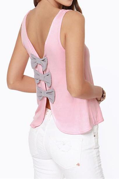 Top With Cut Out Bowtie Back 051352