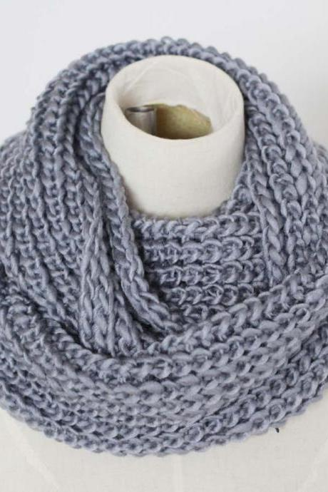 chunky knitted infinity scarf winter warm