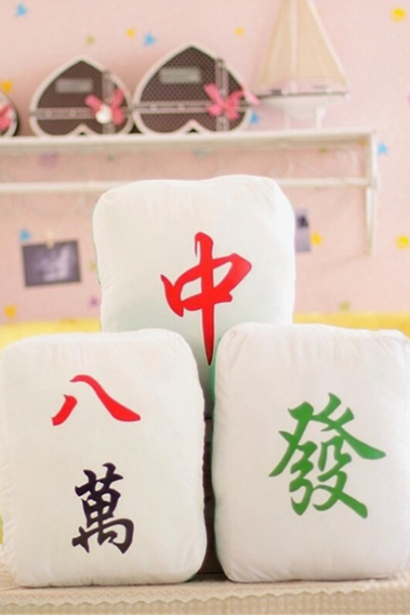 Creative mahjong couple pillow lunch car cushion office cartoon pillow