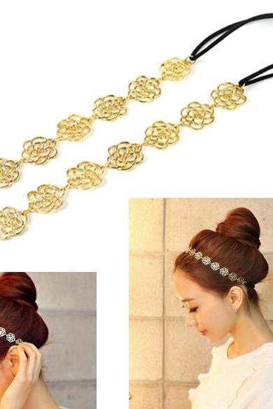 Hollow Out Rose Hair Band Headband