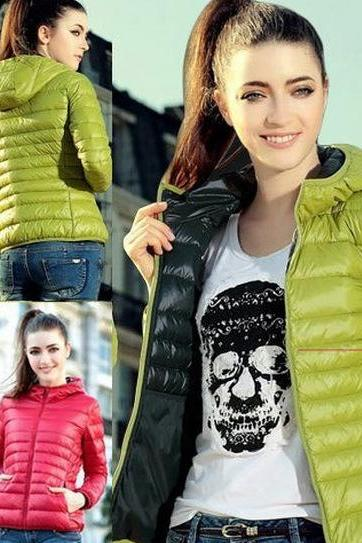 Thin section of cotton padded hooded jacket short coat NMJK