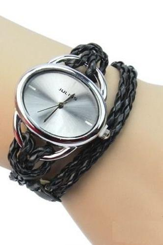 Egg shaped case fashion teen girl black watch