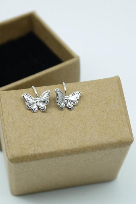 Simply earrings - Silver Butterfly