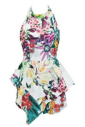 FASHION CUTE FLORAL DRESS JUMPSUIT