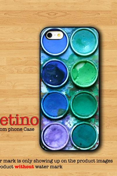 Art Watercolor Paint Box Blue iPhone 6, IPhone 5 Case, Samsung Galaxy S4, IPhone 4 Case, IPhone 4S Case, iPhone Cover, Messy Art, Hipster
