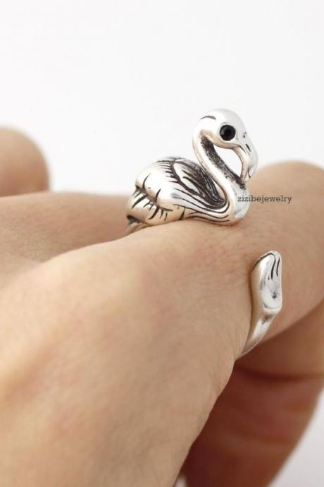 Cute Flamingo ring wrap ring ,R0367S