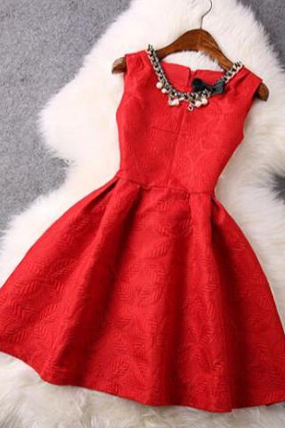 Sweet bow sleeveless vest dress VG10605NM