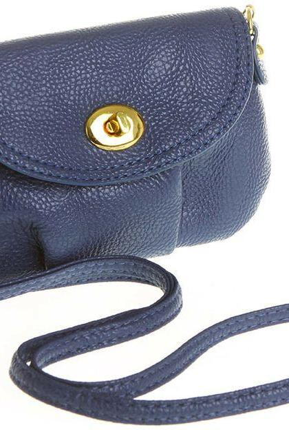 Cross body messenger blue leather woman handbag