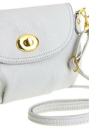 Cross body messenger white leather woman handbag