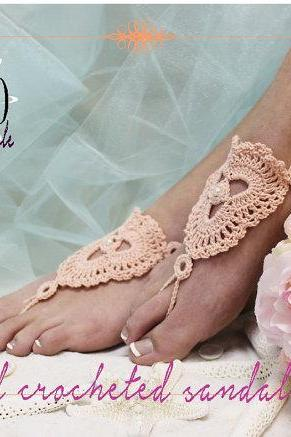 PERFECT lOVE handmade crochet barefoot sandals foot jewelry destination beach wedding bridesmaids footless sandals Catherine Cole BF3