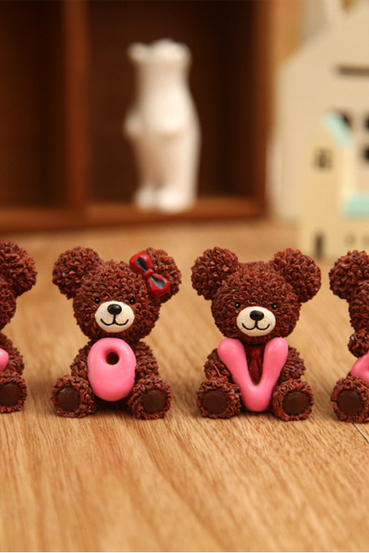 LOVE series of brown bear a special gift lovers ornaments
